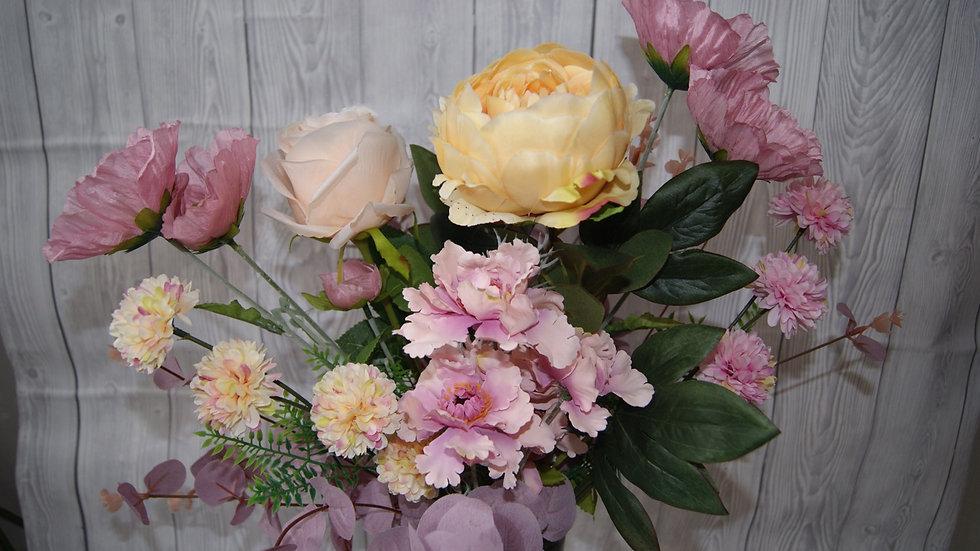 Peony and poppy arrangement