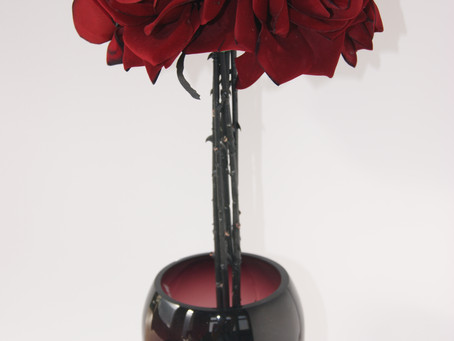 A faux flower arrangement for all seasons