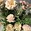 Thumbnail: Cottage garden crate, peach faux flower arrangement