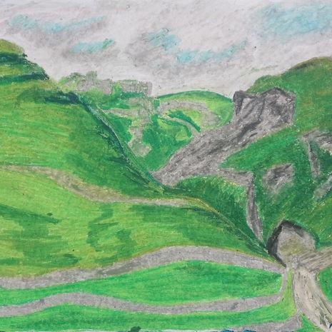 Winnats Pass from Castleton