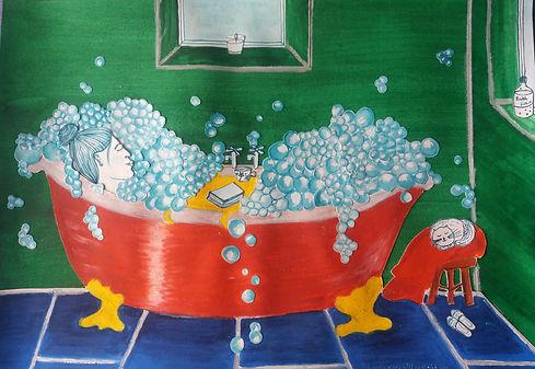Bathroom Scene Collage by Nicola Ellen I
