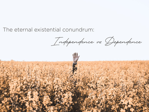 The eternal existential conundrum: independence versus dependence