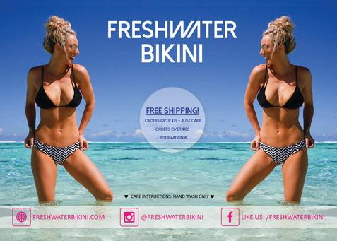 Freshwater Bikini Graphic Design Flyer by Master Marketing