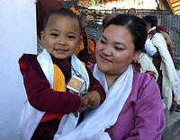 Bhutanese Mother and Son