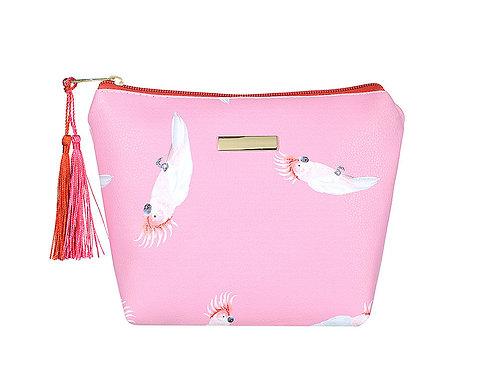 Pink Parrot Makeup Bag