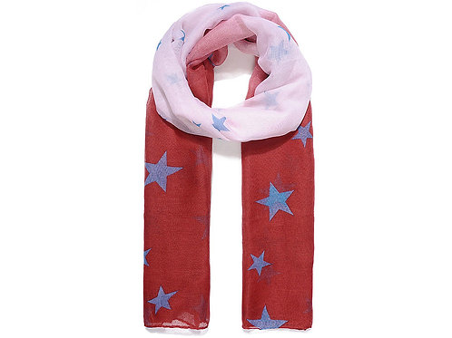 Pink Ombre Star Print
