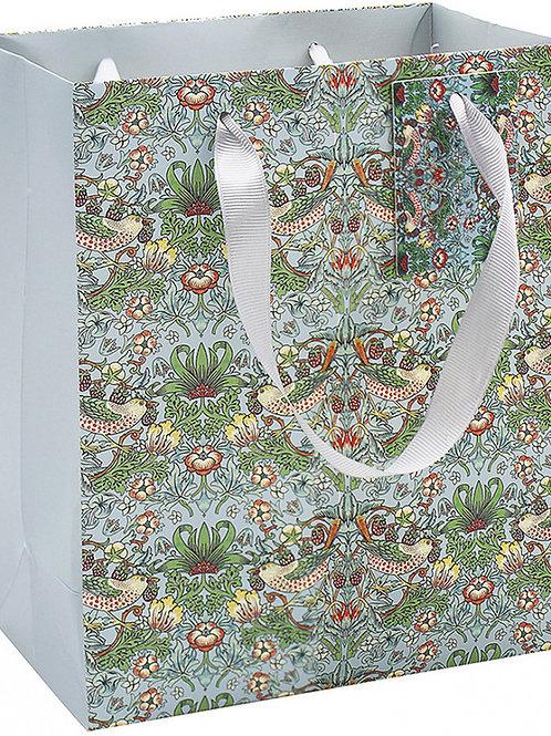 Large William Morris Strawberry Thief Gift Bag