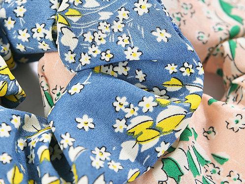 Floral hair scrunchies