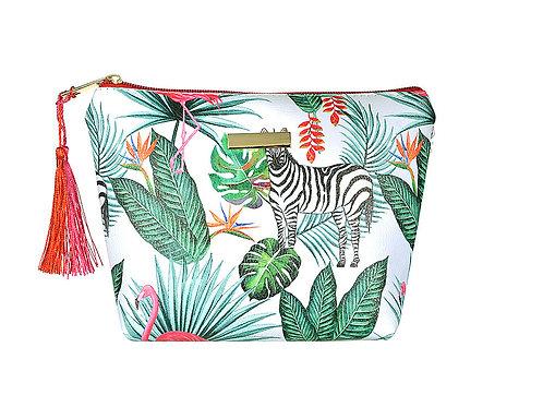 Zebra Jungle Makeup Bag