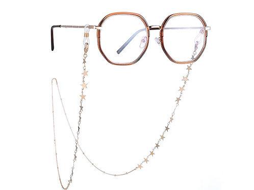Gold Glasses / Mask Chain Stars or Discs