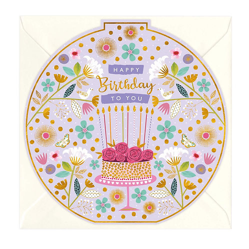 Happy Birthday - Rose Cake