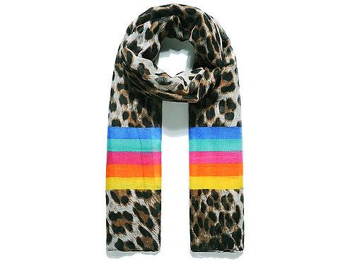 Leopard Rainbow Print Scarf