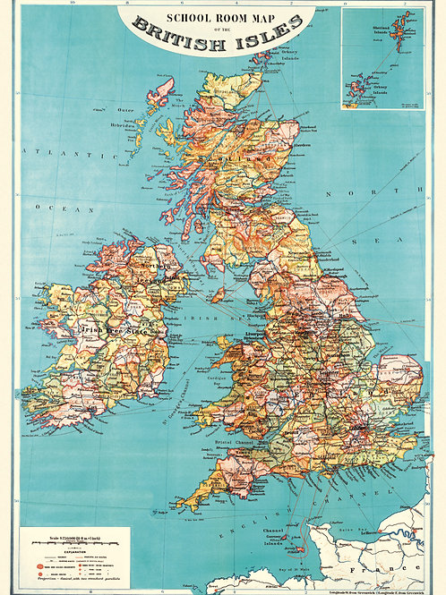 UK Map Poster / Gift Wrap