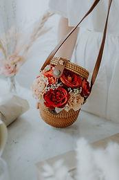 Florist's Pick Basket Full of Posies - Round Sling