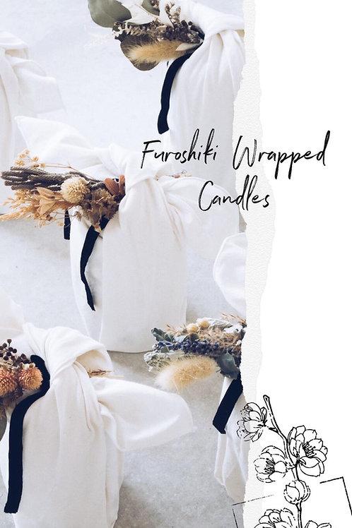 Furoshiki Wrapped Candles