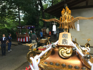 伊豆美神社の清掃