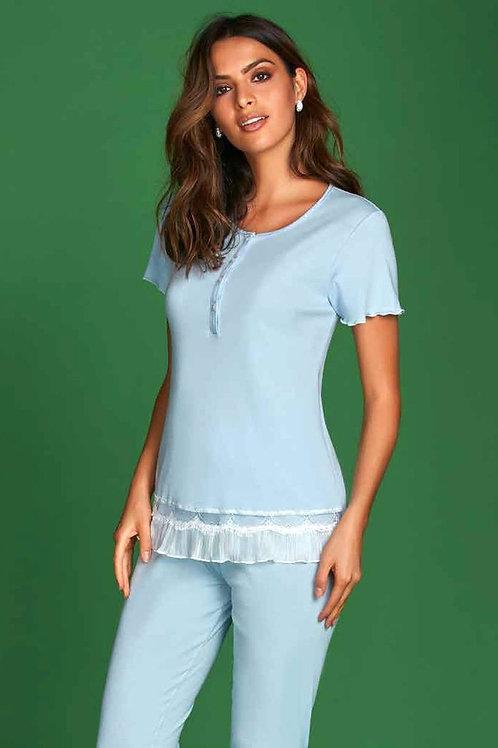 Andra pidžama (pienbalta ar pelēku)