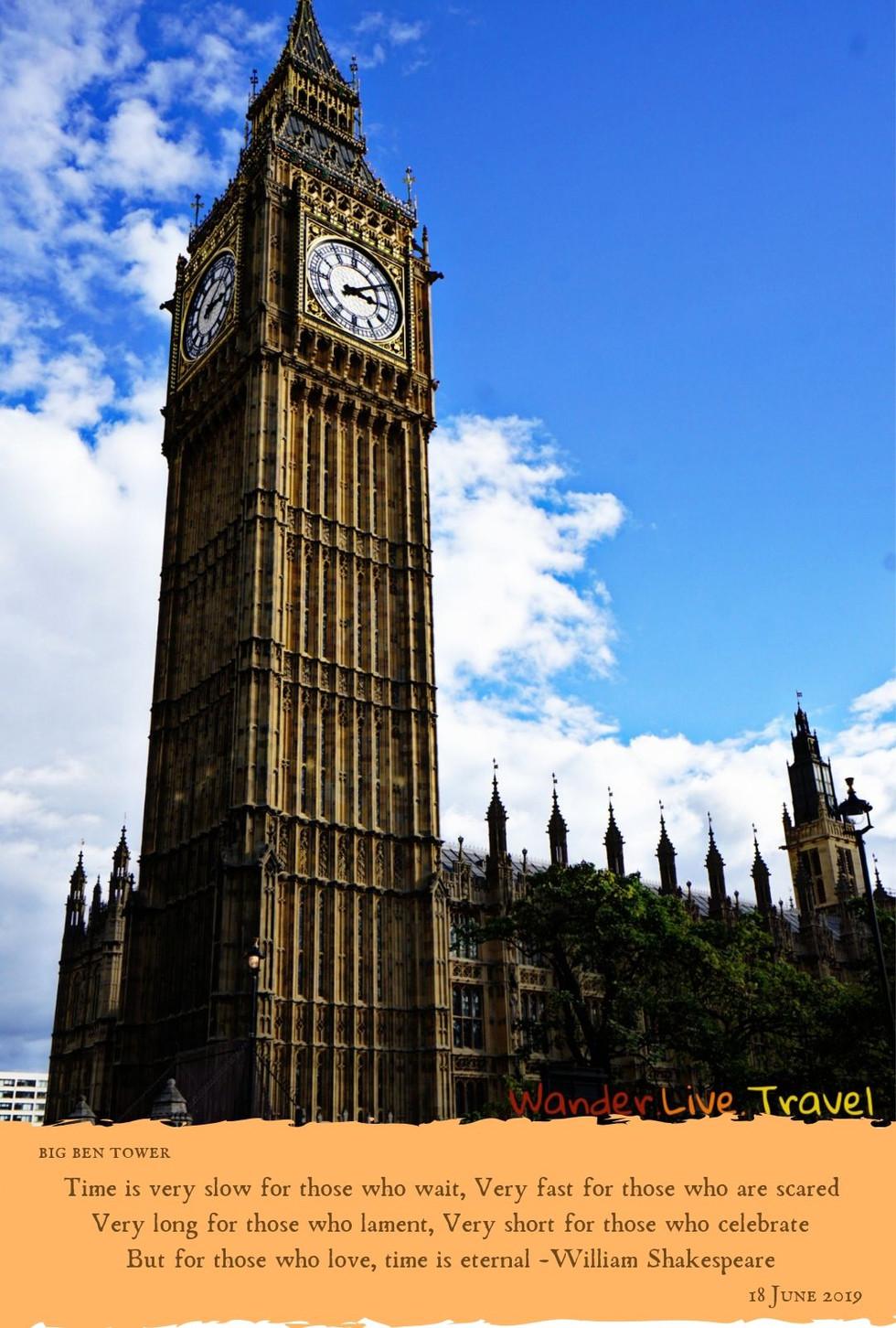 Famous Landmark - Big Ben Tower