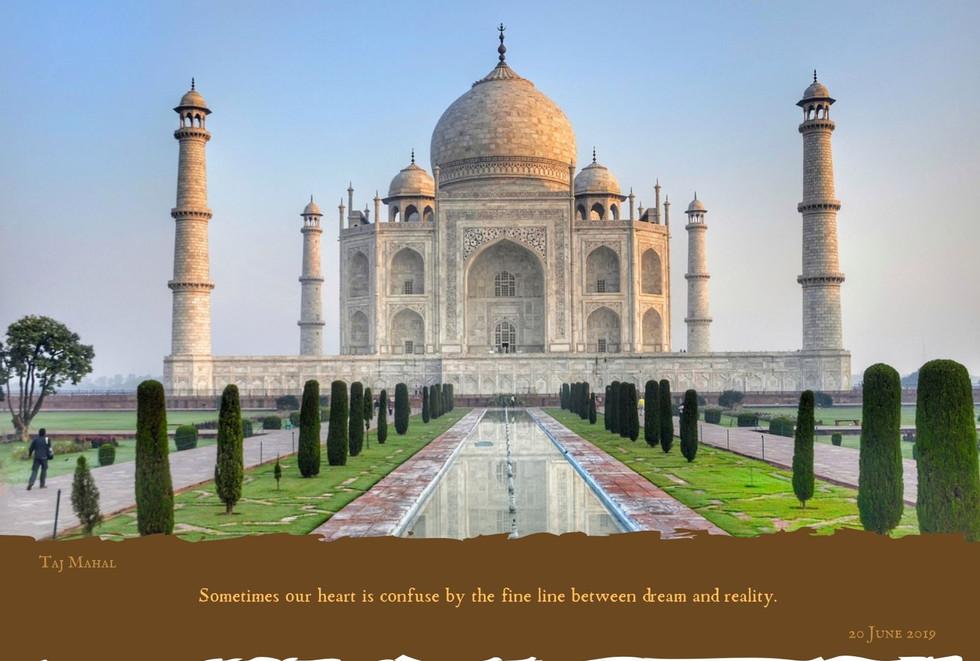 Famous Landmark - Taj Mahal