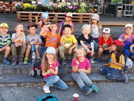 Herbstwanderung mit den Grossen im Kindergarten