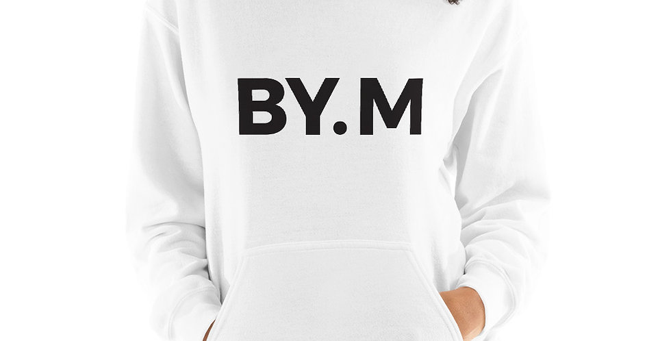 White hoodie BY.M