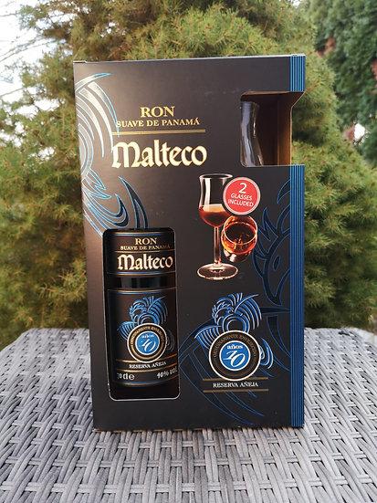Malteco 10 Jahre alt mit 2 Gläsern 40,5% 0,7 l