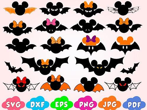 Disney Halloween SVG Mickey Halloween SVG Halloween Mickey SVG Bat SVG