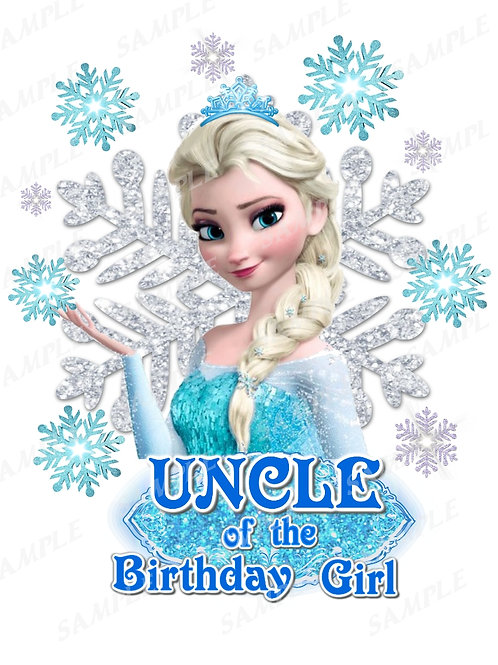 Frozen Birthday Shirt. Frozen Iron on Transfer. Uncle Outfit.