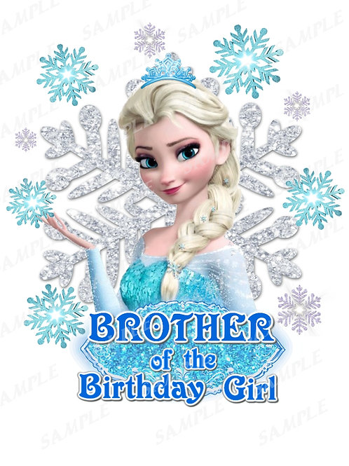 Frozen Birthday Shirt. Frozen Iron on Transfer. Brother Outfit