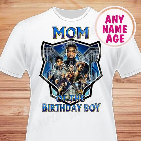 Black Panther Birthday Shirt. Heat Transfer. Mom of the Birthday Boy