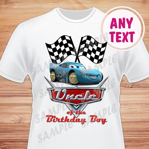Disney Cars Birthday Shirt. Disney Cars Iron on Transfer. Uncle