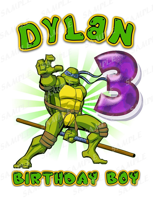 Digital file JPG, PNG for Birthday Shirt, Iron on Transfer. 357
