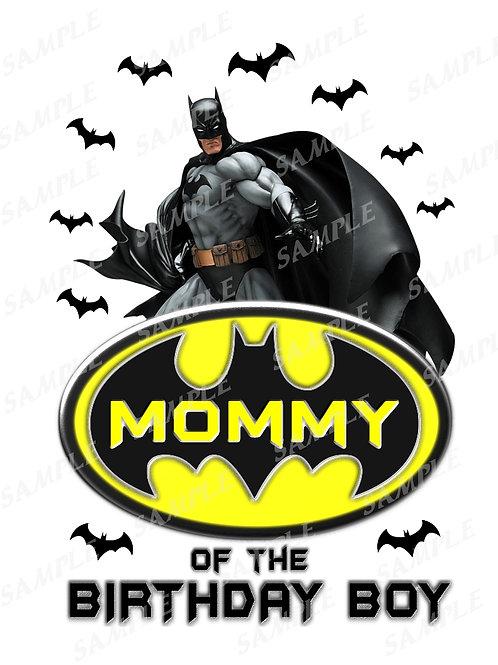 Batman Birthday Shirt. Batman Iron on Transfer. Mommy