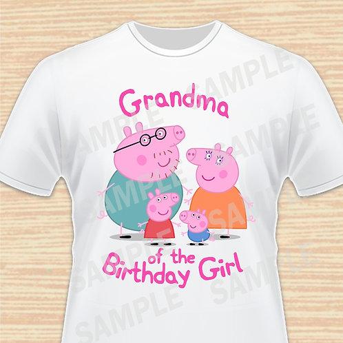 Peppa Pig iron on transfer Grandma