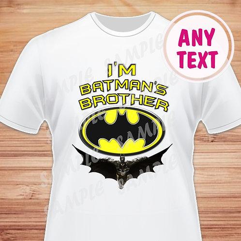 Batman Birthday Shirt. Batman Heat Transfer. Brother Printable.