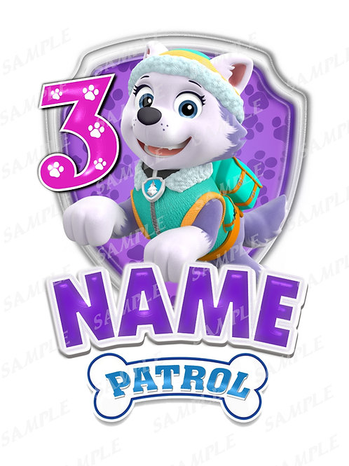 paw patrol everest birthday shirt