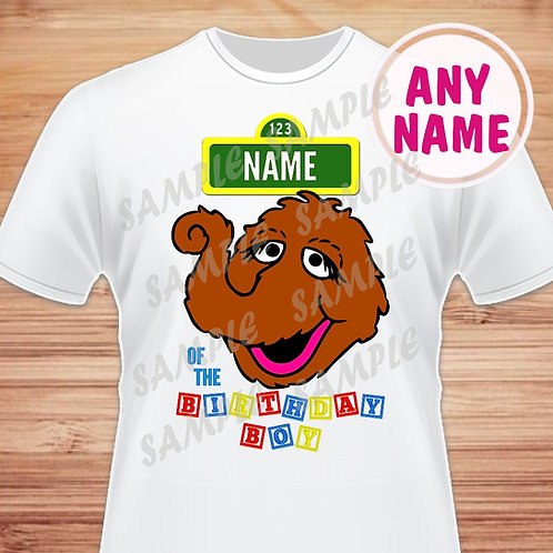 sesame street mr. snuffleupagus birthday shirt