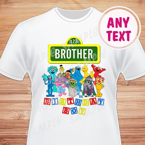 sesame street iron on transfer brother instant download
