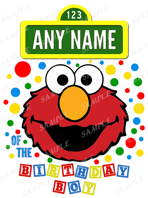 Sesame Street Elmo Birthday Shirt Heat transfer. Elmo shirt