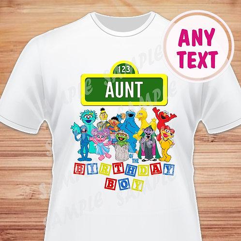 sesame street family shirts aunt