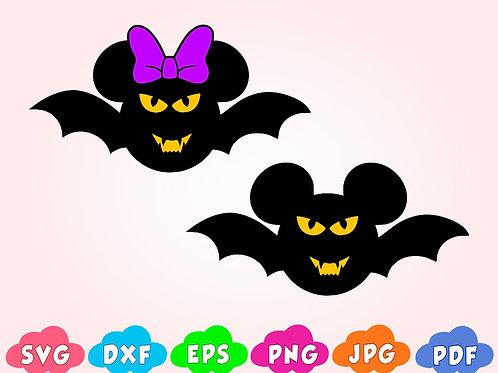 Disney Halloween Mickey SVG, bat svg