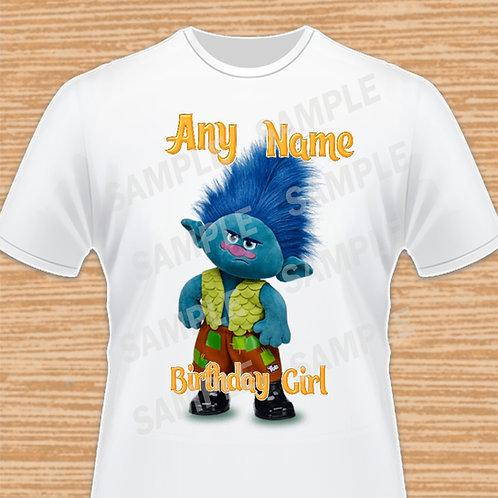 Trolls Birthday Shirt, Trolls iron on heat, Trolls Any Name, Branch