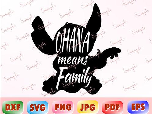 Ohana means Family svg
