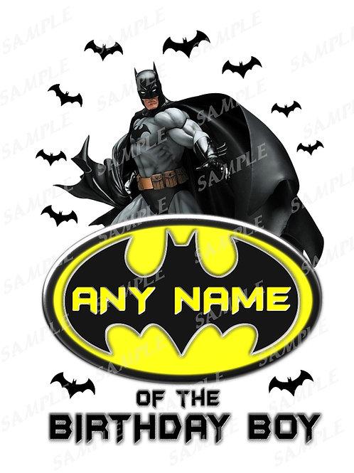 Batman Birthday Shirt. Batman. Transfer, Any Name.
