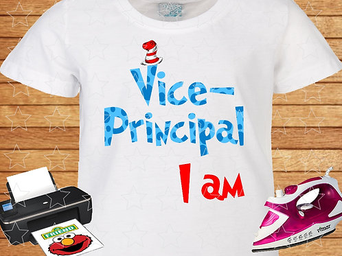 Vice-Principal I am Dr. Seuss iron on transfer, Dr. Seuss shirt png