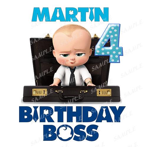 Boss Baby Birthday Shirt. Boss Baby Iron on Transfer. Birthday Boss