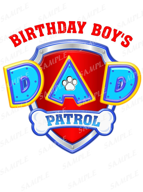 paw patrol dad instant download