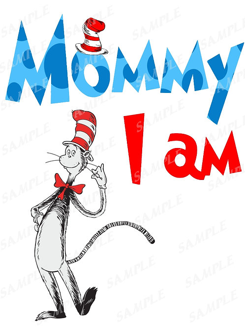 Mommy I am | Iron on Transfer | T-Shirt | Printable | Cat