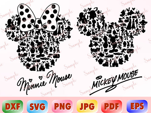 Mickey Mouse Characters svg