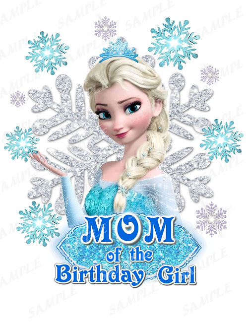 Frozen Birthday Shirt. Frozen Iron on Transfer. Mom Outfit.